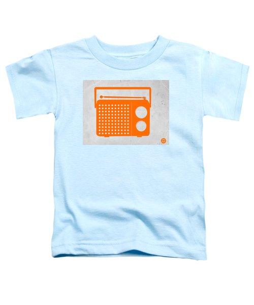 Orange Transistor Radio Toddler T-Shirt