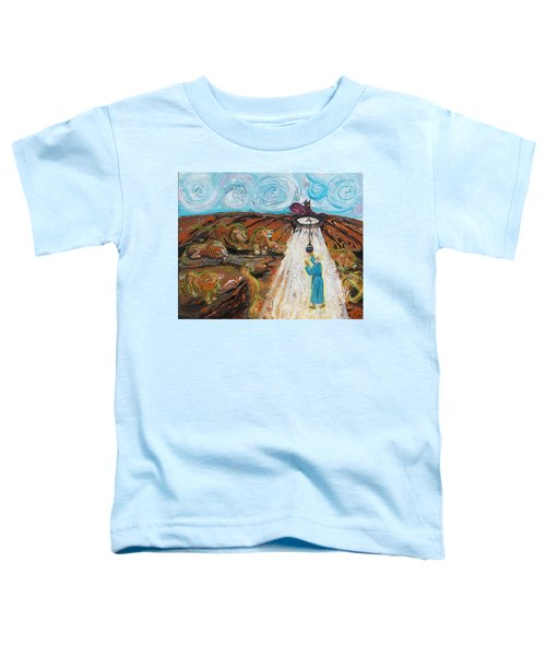 Prophetic Message Sketch 15 Daniel The Lion's Den And The Whirlwind Toddler T-Shirt