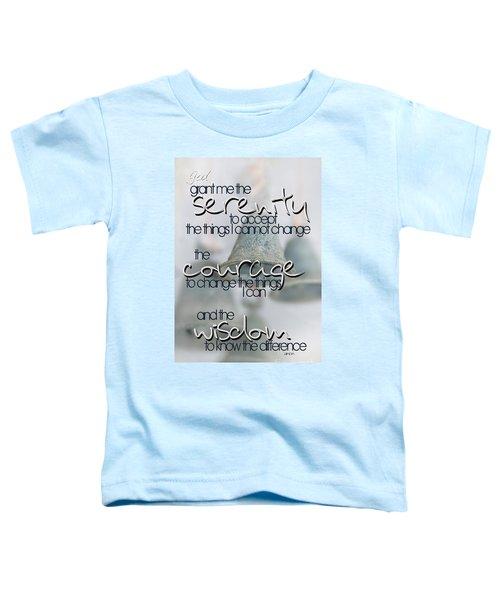 Serenity Prayer With Bells Toddler T-Shirt