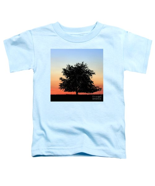 Make People Happy  Square Photograph Of Tree Silhouette Against A Colorful Summer Sky Toddler T-Shirt