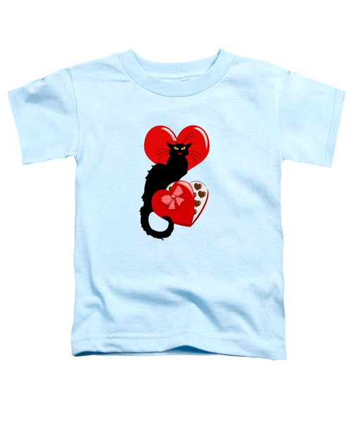 Le Chat Noir With Chocolate Candy Gift  Toddler T-Shirt