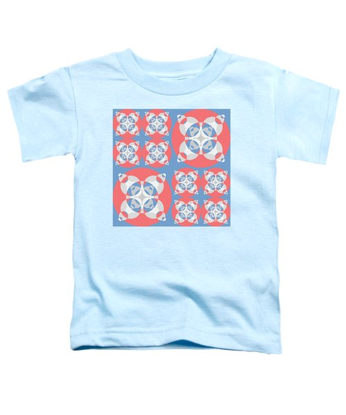 Abstract Mandala White, Pink And Blue Pattern For Home Decoration Toddler T-Shirt