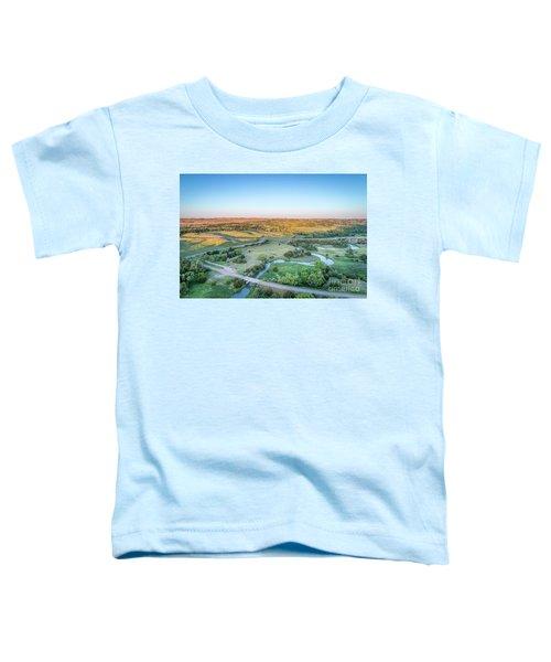 aerial view of Dismal River in Nebraska Toddler T-Shirt
