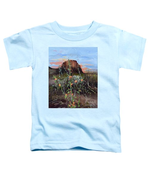 Arizona Desert Flowers-dwarf Indian Mallow Toddler T-Shirt
