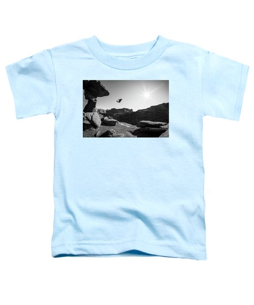 Toddler T-Shirt featuring the photograph Base Jumper by Whit Richardson