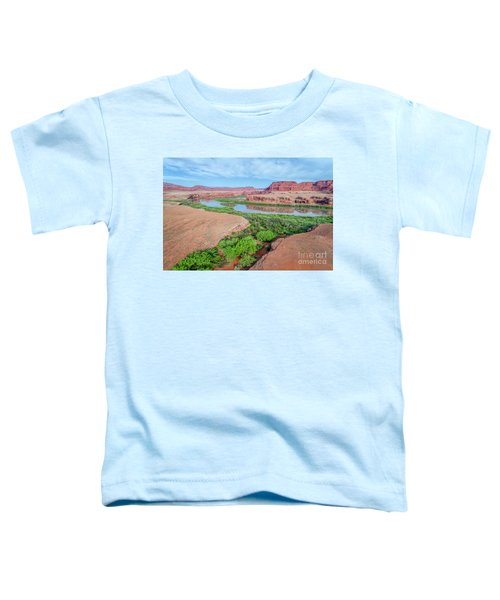 Canyon Of Colorado River In Utah Aerial View Toddler T-Shirt