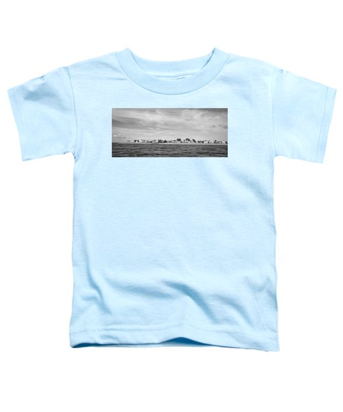 Fairfield Connecticut Coastline Black And White Toddler T-Shirt