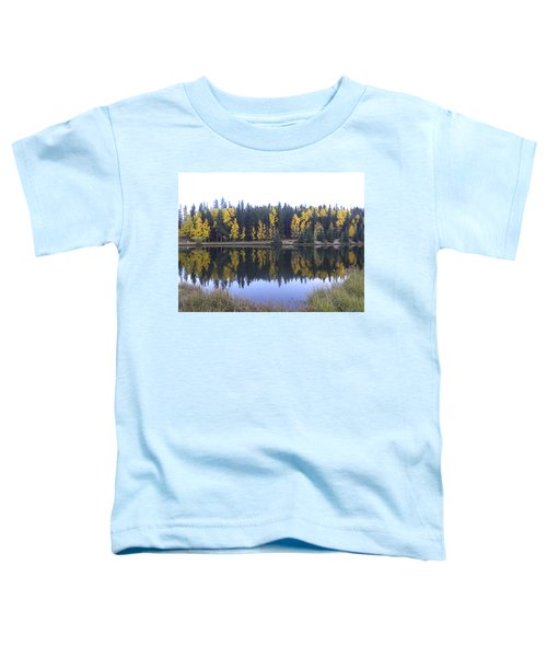 Potty Pond Reflection - Fall Colors Divide Co Toddler T-Shirt