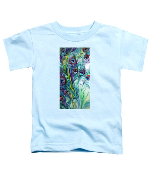 Feathers Peacock Abstract Toddler T-Shirt