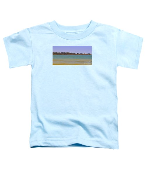 Toddler T-Shirt featuring the photograph Racine Lakefront by Ricky L Jones