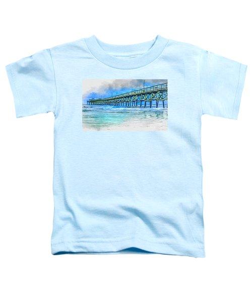 Sea Blue - Cherry Grove Pier Toddler T-Shirt