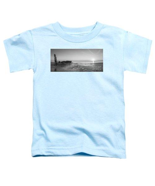 Shipwreck Panorama Sunset Toddler T-Shirt