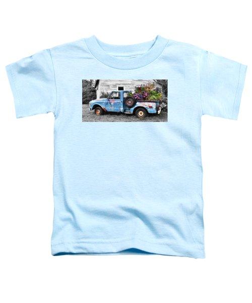 Toddler T-Shirt featuring the photograph Truckbed Bouquet by Andrea Platt