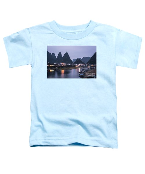 Twilight Over The Lijang River In Yangshuo Toddler T-Shirt
