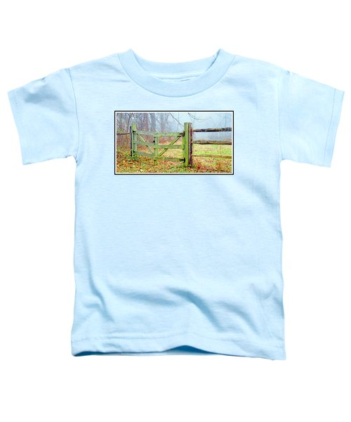 Wooden Fence On A Foggy Morning Toddler T-Shirt