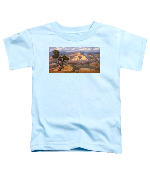 Zoroaster Temple From Yaki Point Toddler T-Shirt by Paul Krapf