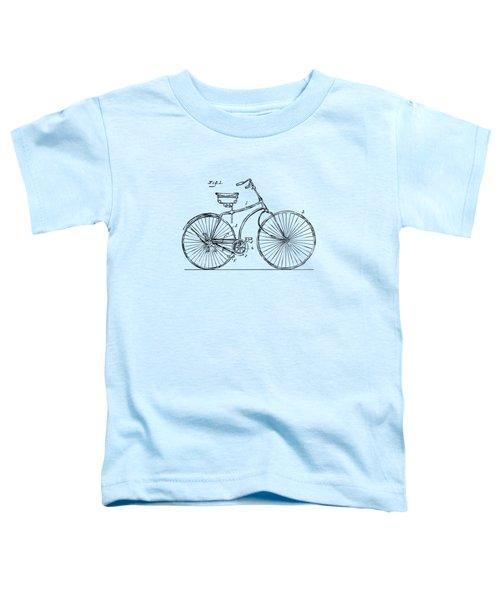 1890 Bicycle Patent Minimal - Vintage Toddler T-Shirt