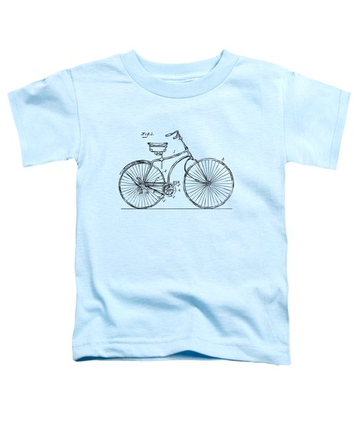 1890 Bicycle Patent Minimal - Vintage Toddler T-Shirt