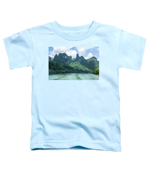Lijiang River And Karst Mountains Scenery Toddler T-Shirt