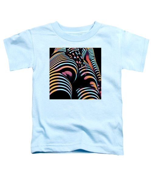 1937s-ak Sliding Her Hand Down Her Naked Back Rendered In Composition Style Toddler T-Shirt
