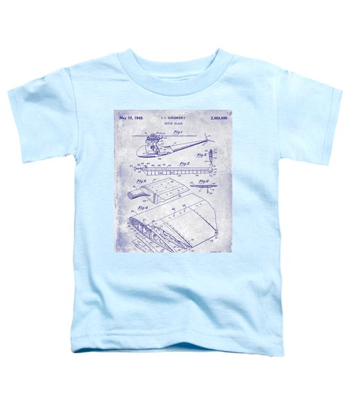1949 Helicopter Patent Blueprint Toddler T-Shirt