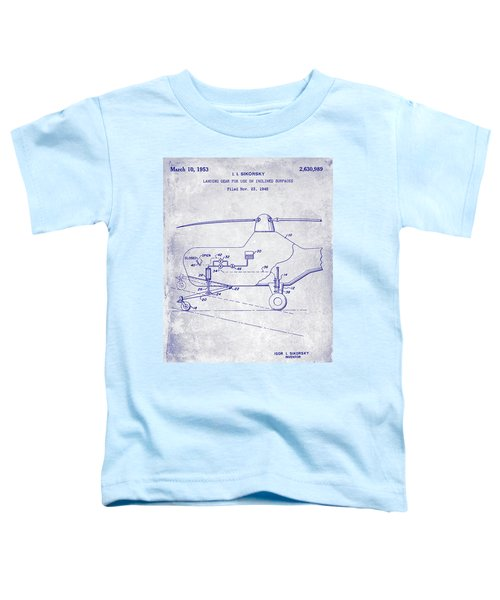 1953 Helicopter Patent Blueprint Toddler T-Shirt by Jon Neidert