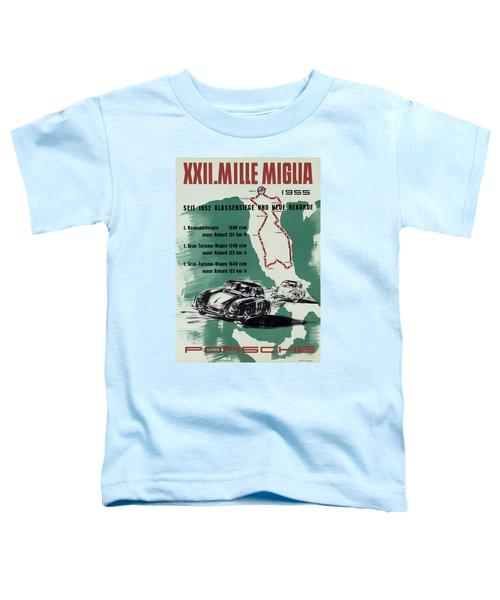 1955 Mille Miglia Porsche Poster Toddler T-Shirt