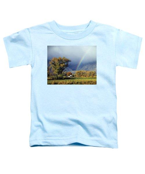 1m6345 Rainbow In Sierras Toddler T-Shirt