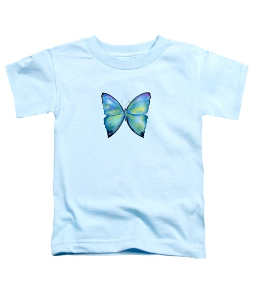 2 Morpho Aega Butterfly Toddler T-Shirt by Amy Kirkpatrick