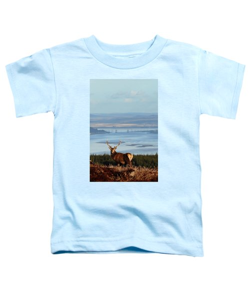 Stag Overlooking The Beauly Firth And Inverness Toddler T-Shirt