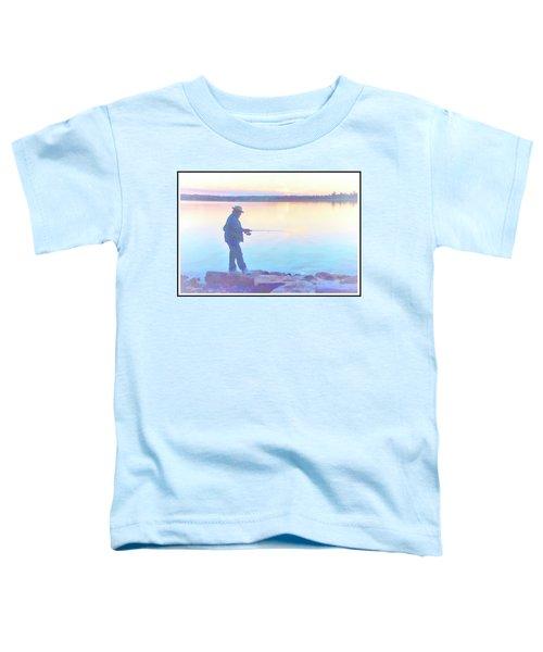 Sunrise Fisherman Toddler T-Shirt