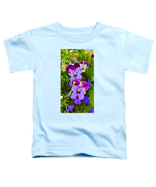 2015 Summer's Eve At The Garden Pansy Totem Toddler T-Shirt