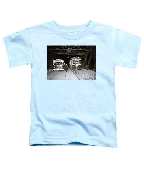 207th Street Crosstown Trolley Toddler T-Shirt by Cole Thompson