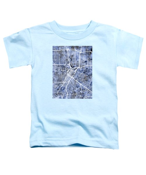Houston Texas City Street Map Toddler T-Shirt
