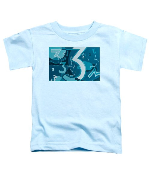 3 In Blue Toddler T-Shirt