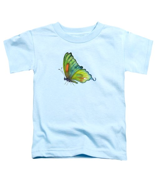 3 Perched Orange Spot Butterfly Toddler T-Shirt by Amy Kirkpatrick