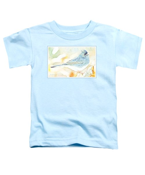 Slate-colored Junco, Snowbird, Male, Animal Portrait Toddler T-Shirt