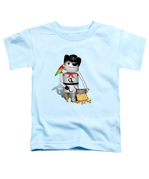 Robo-x9 The Pirate Toddler T-Shirt by Gravityx9  Designs