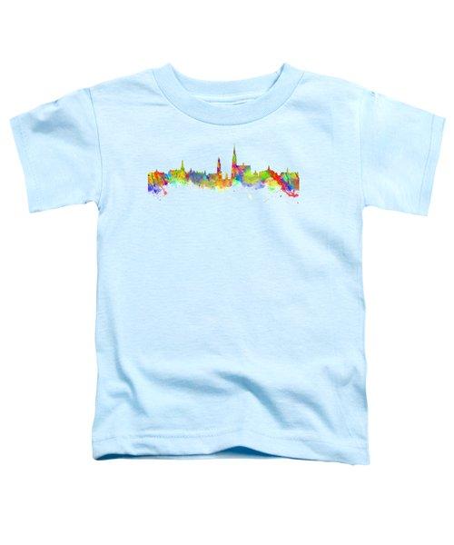 Watercolor Art Print Of The Skyline Of Antwerp In Belgium Toddler T-Shirt