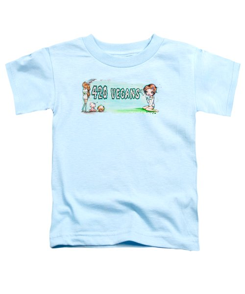 420 Vegans Toddler T-Shirt by Lizzy Love