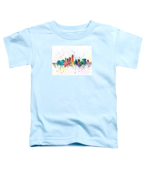 Indianapolis Indiana Skyline Toddler T-Shirt