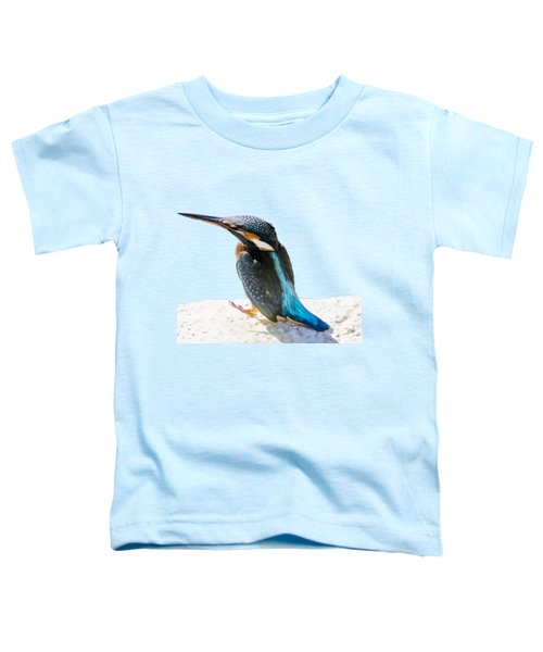 A Beautiful Kingfisher Bird Vector Toddler T-Shirt