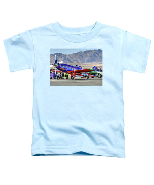A Closer Look At Voodoo Engine Start Sundays Unlimited Gold Race Toddler T-Shirt