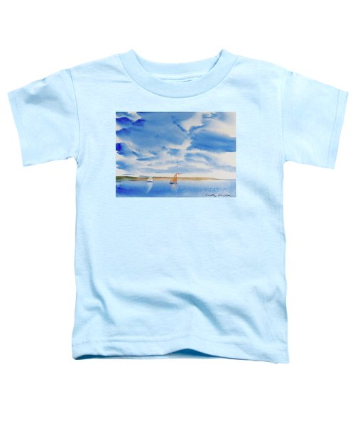 A Fine Sailing Breeze On The River Derwent Toddler T-Shirt