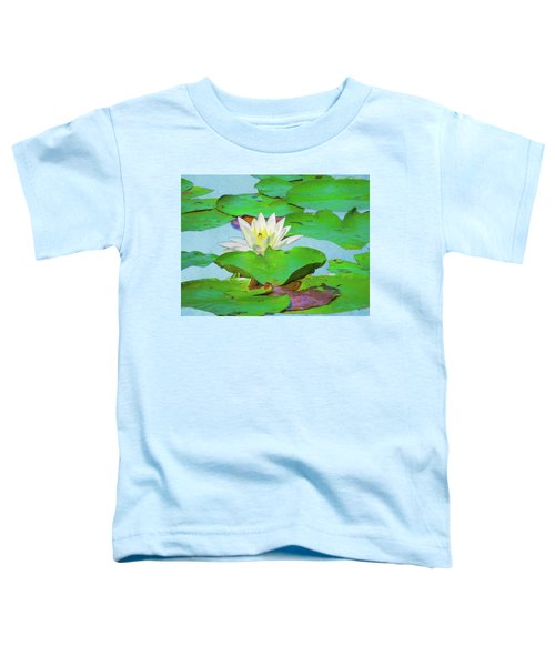 A Single Water Lily Blossom Toddler T-Shirt