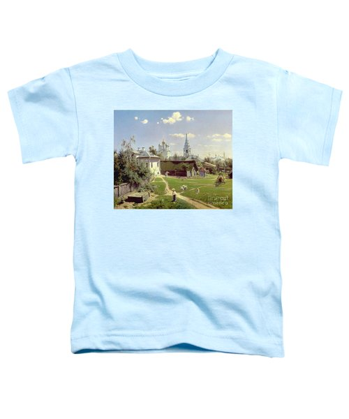 A Small Yard In Moscow Toddler T-Shirt by Vasilij Dmitrievich Polenov