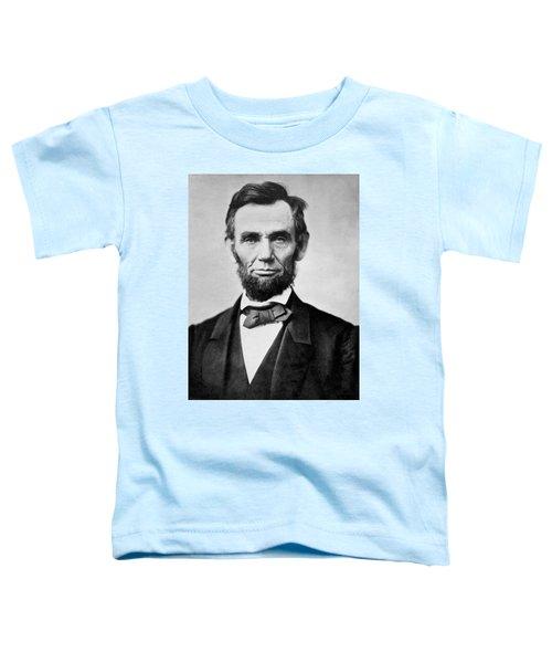 Abraham Lincoln -  Portrait Toddler T-Shirt