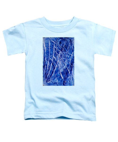 Abstract Blues Encaustic Toddler T-Shirt