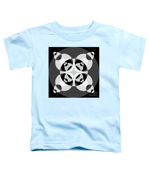 Abstract Mandala Black, Gray And White Pattern For Home Decoration Toddler T-Shirt