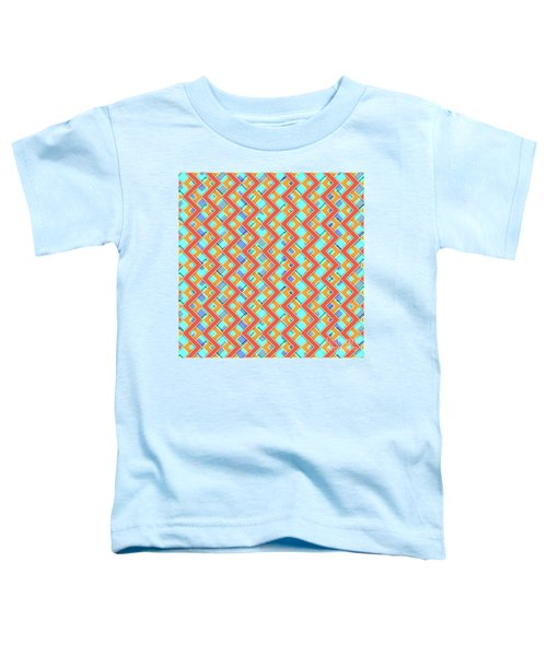 Abstract Orange, Cyan And Red Pattern For Home Decoration Toddler T-Shirt